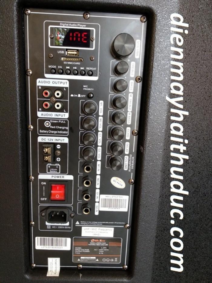 Loa kéo Hoxen L60H bass 40cm x 2 đầy đủ chức năng chỉnh riêng biệt.0