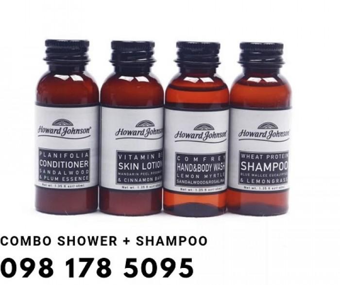 Bán dầu gội, sữa tắm chuyên dụng cho khu spa và massage chất lượng tốt, giá thành ổn định.9
