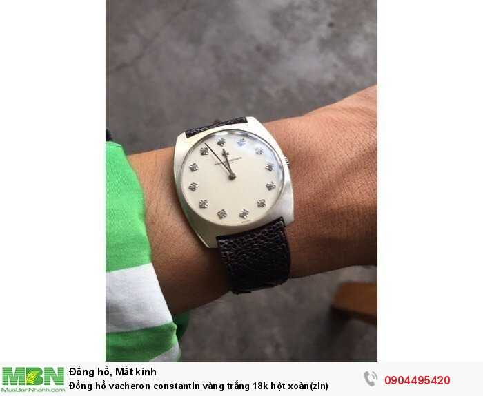 Đồng hồ vacheron constantin vàng trắng 18k hột xoàn(zin)0