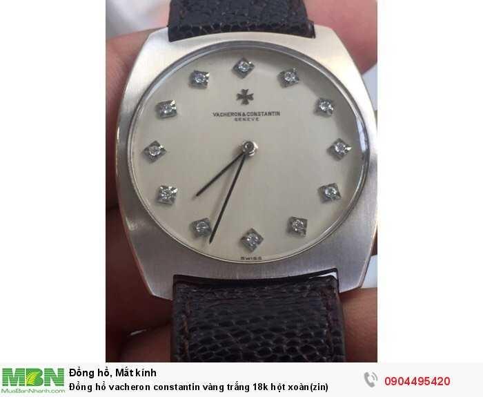 Đồng hồ vacheron constantin vàng trắng 18k hột xoàn(zin)1