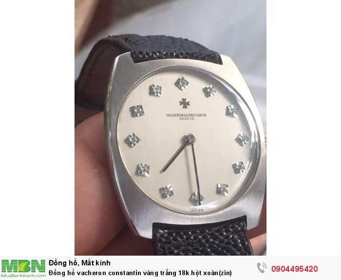 Đồng hồ vacheron constantin vàng trắng 18k hột xoàn(zin)2