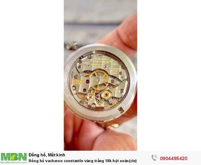 Đồng hồ vacheron constantin vàng trắng 18k hột xoàn(zin)3