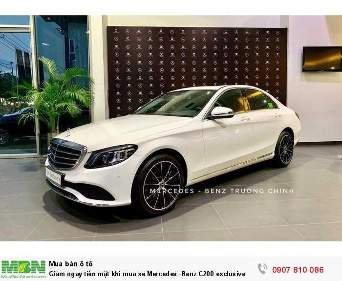 Giảm ngay tiền mặt khi mua xe Mercedes -Benz C200 exclusive 0