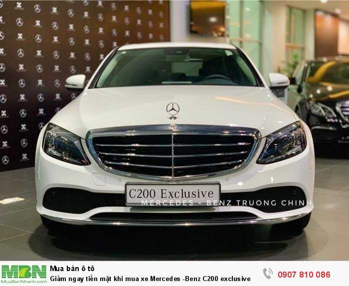 Giảm ngay tiền mặt khi mua xe Mercedes -Benz C200 exclusive