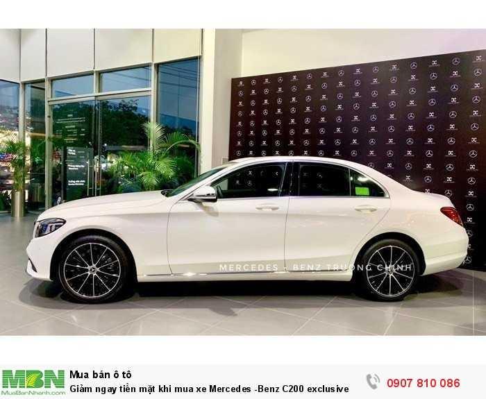 Giảm ngay tiền mặt khi mua xe Mercedes -Benz C200 exclusive 2