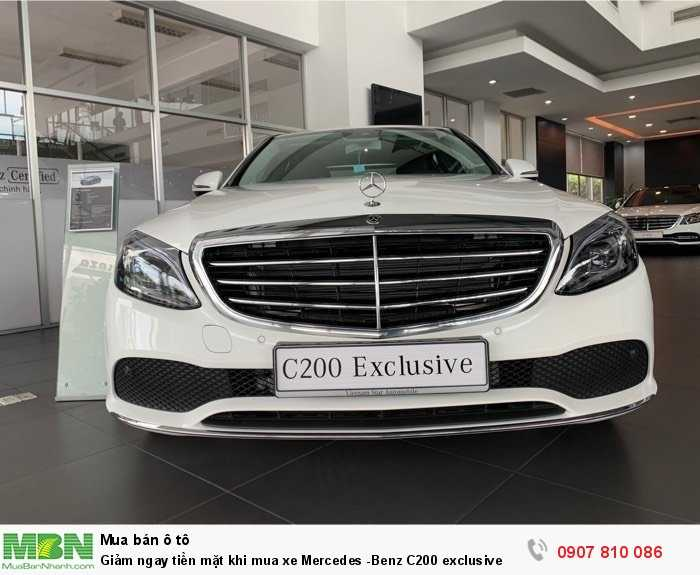 Giảm ngay tiền mặt khi mua xe Mercedes -Benz C200 exclusive 3