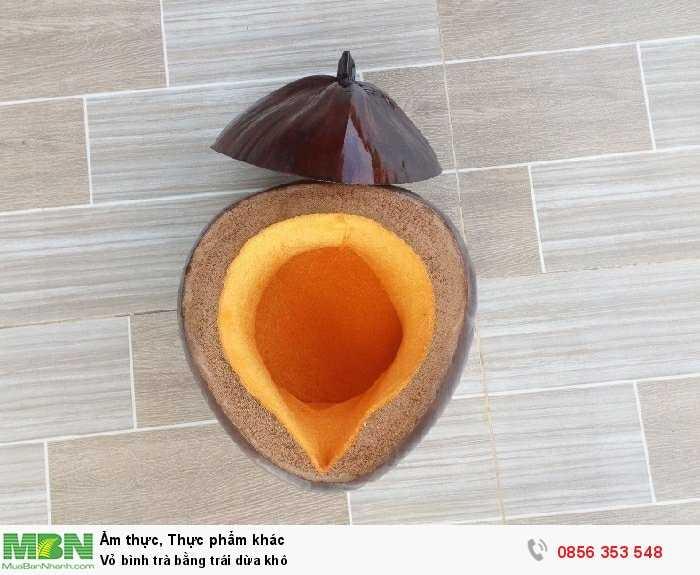 Vỏ bình trà bằng trái dừa khô1