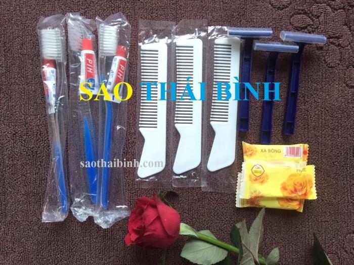 Combo đồ dùng dành cho khách sạn, nhà nghỉ: Bàn chải, xà bông, dao cạo râu, lược và tăm bông2