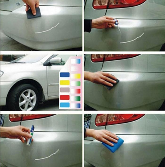 Lưu ý rửa sạch chỗ xước cần phục hồi trước khi sử dụng bút Bút được thiết kế dạng chổi sơn, nên khi mở nắp khách hàng lưu ý dựng thẳng bút, nắp bút hướng lên trên đề tránh đổ dung dịch ra ngoài