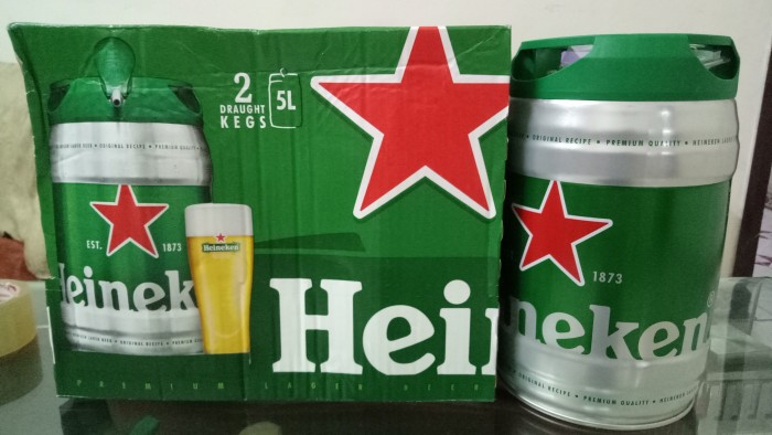 Bia bom Heineken 5L0