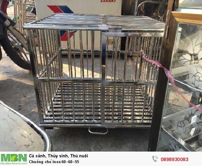 Chuồng chó inox 60~60~550