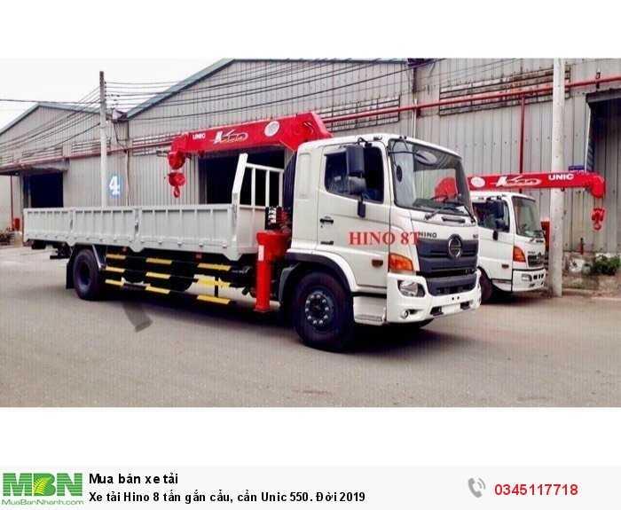 Xe tải Hino 8 tấn gắn cẩu, cần Unic 550. Đời 2019 1