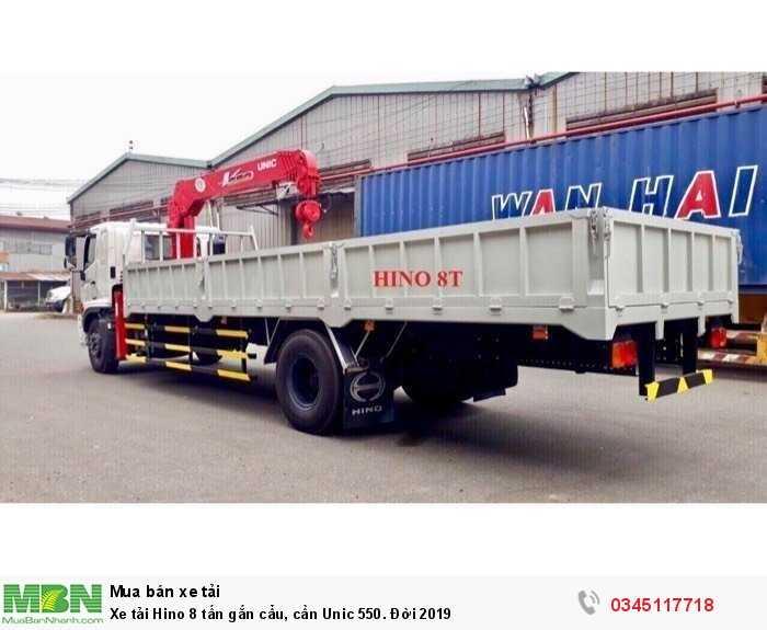 Xe tải Hino 8 tấn gắn cẩu, cần Unic 550. Đời 2019 2