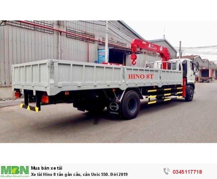 Xe tải Hino 8 tấn gắn cẩu, cần Unic 550. Đời 2019 3