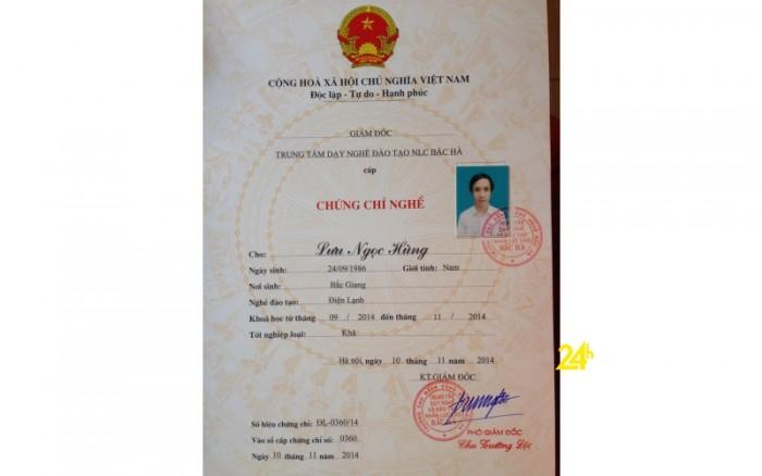 Mua chứng chỉ điện tại Hà Nội 09745283874