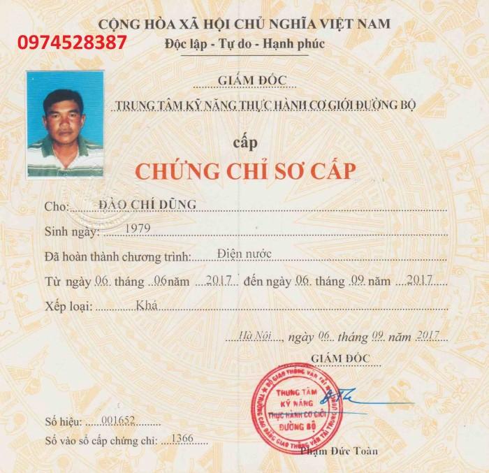 Mua chứng chỉ điện tại Hà Nội 09745283873