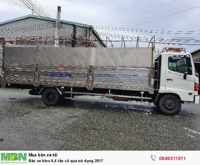Bán xe hino 6,4 tấn cũ qua sử dụng 2017