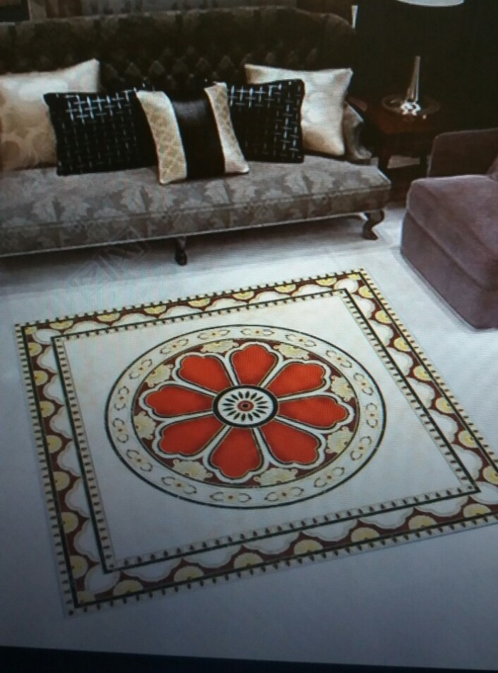 Gạch thảm trang trí phòng khách cao cấp5