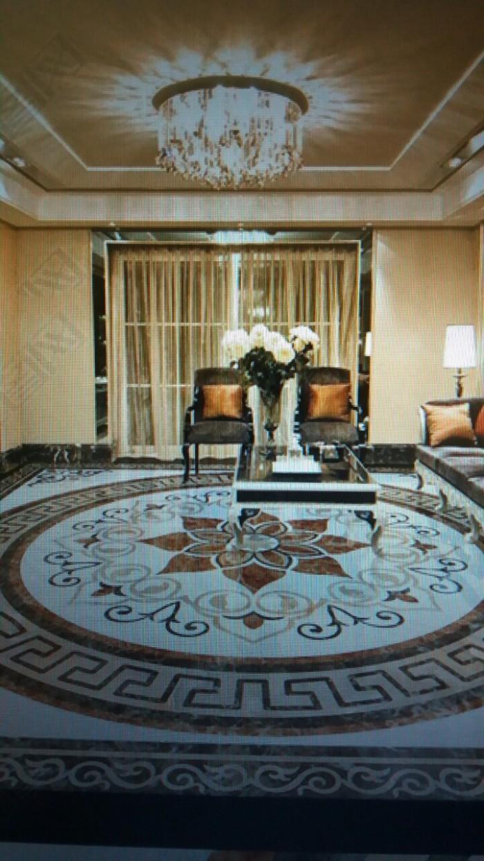 Gạch thảm trang trí phòng khách cao cấp3