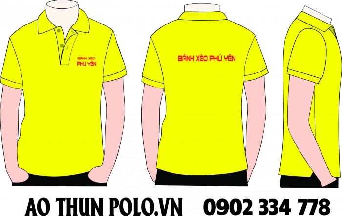áo thun đồng phục quán ăn màu vàng chanh - áo thun quán ăn 1 màu