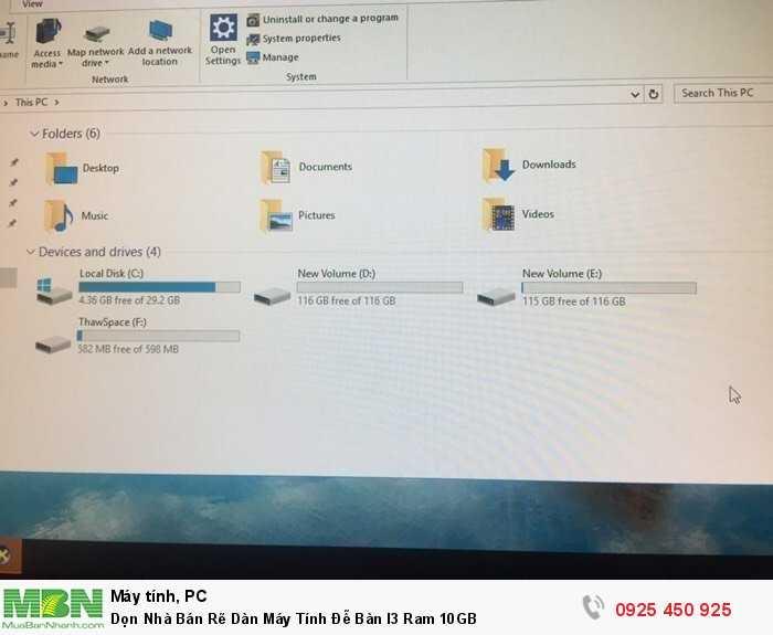 Dọn Nhà Bán Rẽ Dàn Máy Tính Đễ Bàn I3 Ram 10GB4