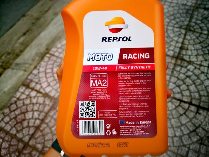 Dầu Nhớt Moto Cao Cấp REPSOL Racing 10W40 4T 1000ml 5
