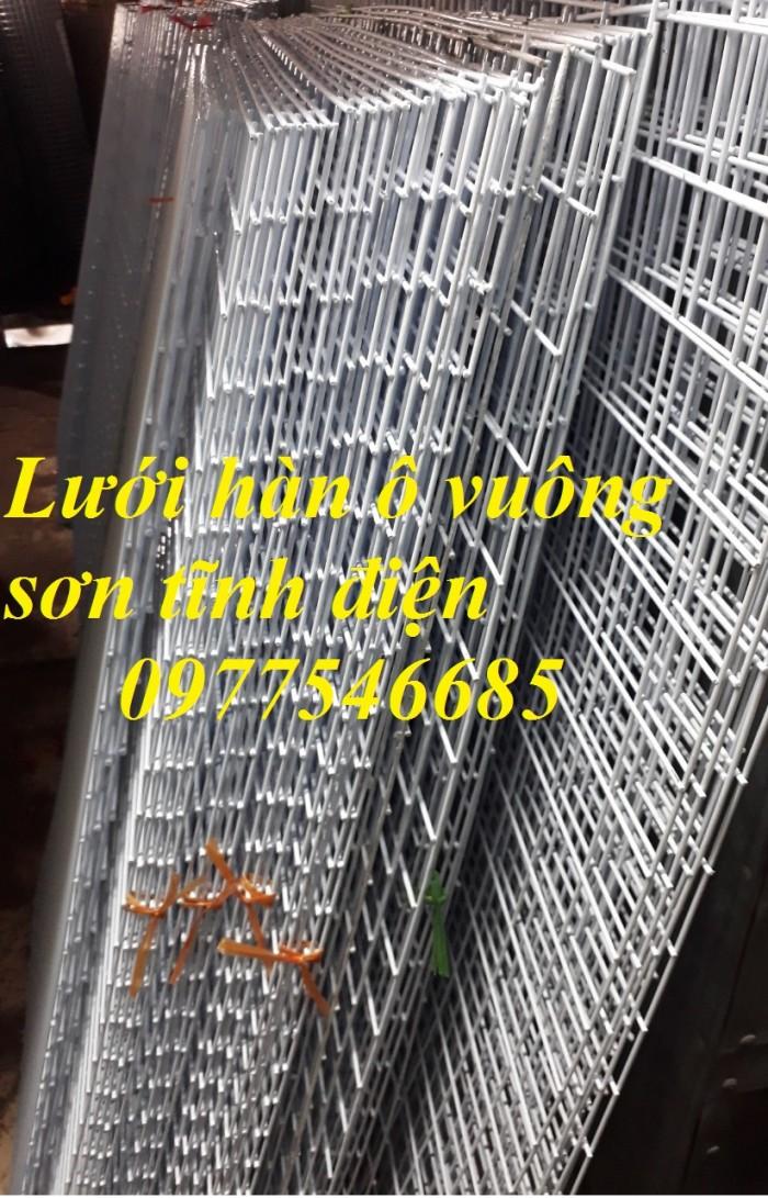Lưới ô vuông sơn tĩnh điện,lưới bọc nhựa3