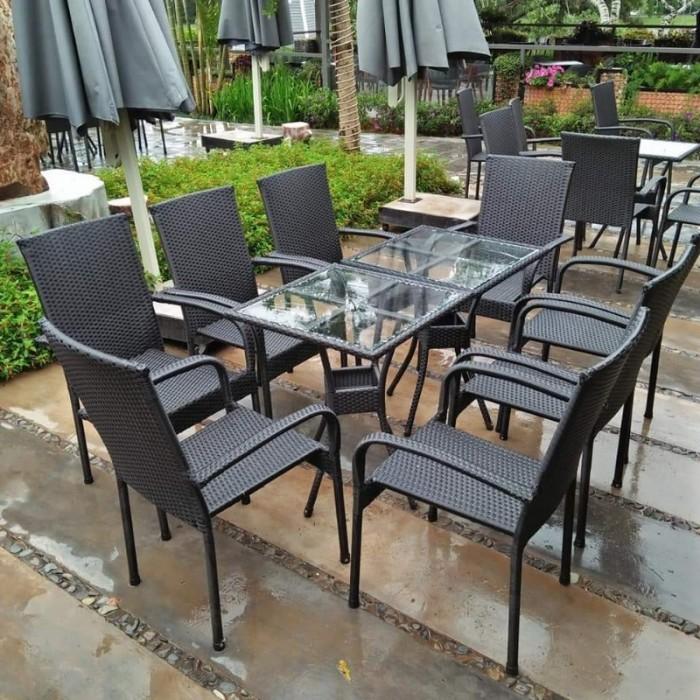 Ghế nhựa giả mây Ghế cà phê, bàn ghế cà phê, xích đu nội thất Tấn Hoàng2