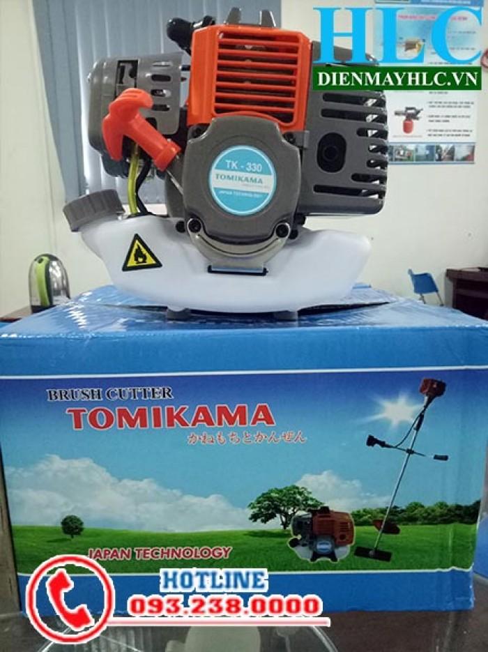 Máy cắt cỏ cầm tay mini Tomikama TK 330, động cơ 2 thì chạy xăng1