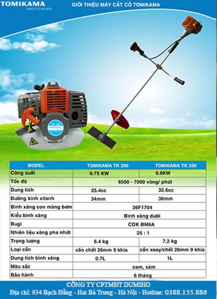 Máy cắt cỏ cầm tay mini Tomikama TK 330, động cơ 2 thì chạy xăng0
