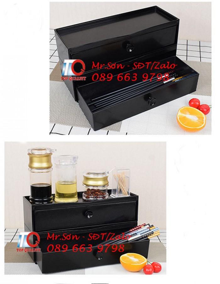 Hộp đựng đũa muỗng nhật bản - hộp đũa màu đen kiểu nhật bản bằng nhựa mica tại Bình Phước0