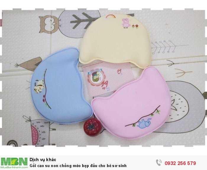 Gối cao su non chống méo bẹp đầu cho bé sơ sinh1