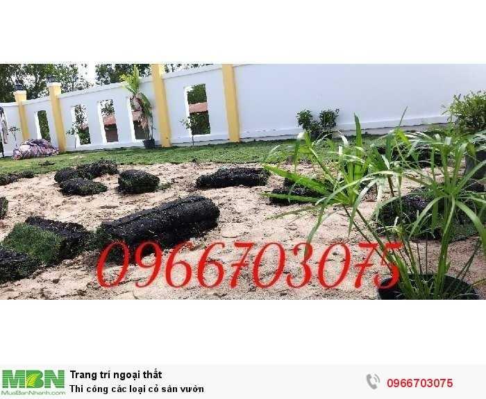 Thi công các loại cỏ sân vườn3