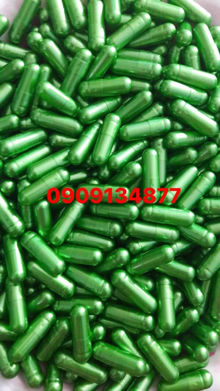1000 vỏ nang con nhộng rỗng, viên con nhộng trong suốt, viên nang xanh lá, vỏ nang rỗng, vỏ nang cứng0