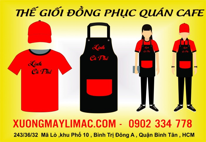 Nhận May Đồng phục quán cafe | Kiểu Dáng Thanh Lịch, Hiện Đại