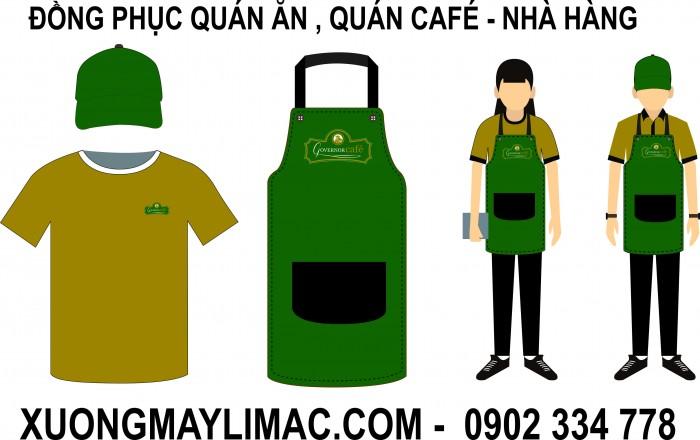 may Đồng phục cafe  giá rẽ