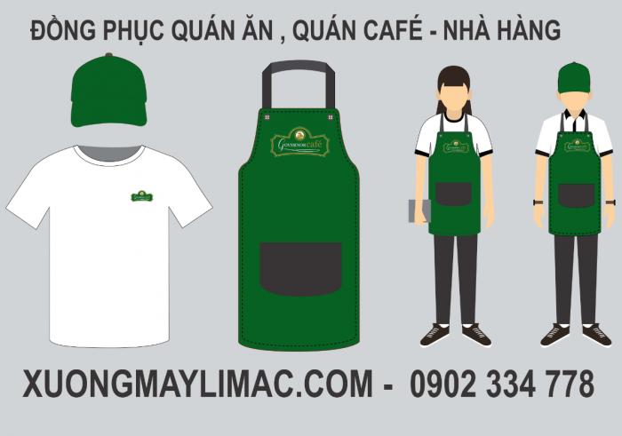 mẫu đồng phục quán ăn , quán cà phê đẹp chất lượng, đẹp và giá cả tốt nhất.1