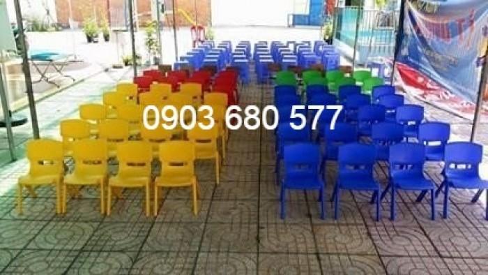 Bộ bàn ghế nhựa mầm non gập chân được giá rẻ, chất lượng cao8