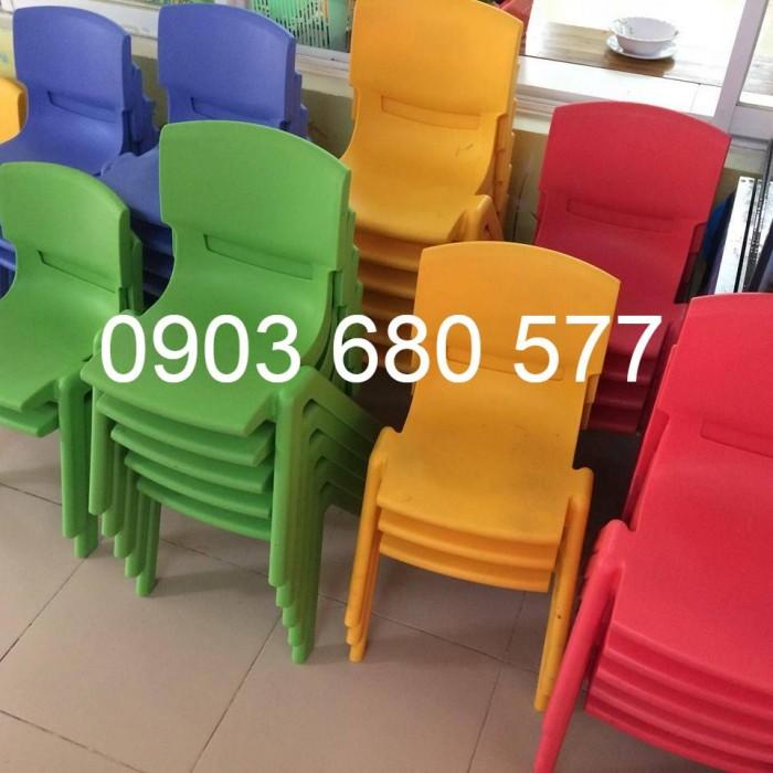 Bộ bàn ghế nhựa mầm non gập chân được giá rẻ, chất lượng cao1