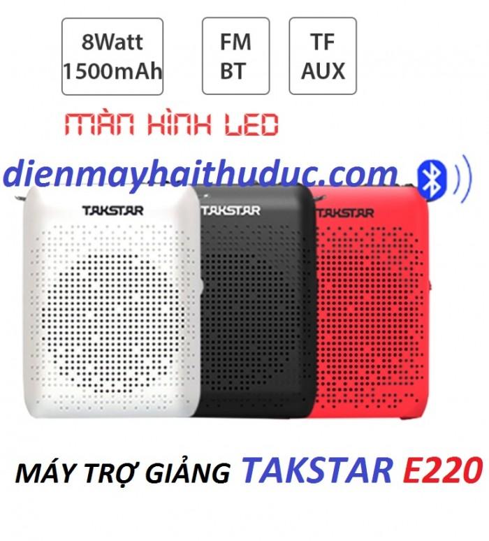 Máy trợ giảng Takstar E220 đa màu sắc kiểu dáng trang nhã và tạo cảm giác thoải mái khi sử dụng.3