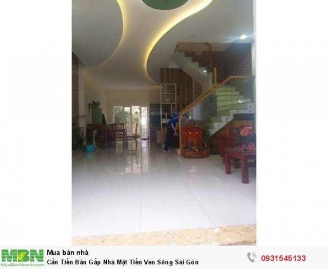 Cần Tiền Bán Gấp Nhà Mặt Tiền Ven Sông Sài Gòn