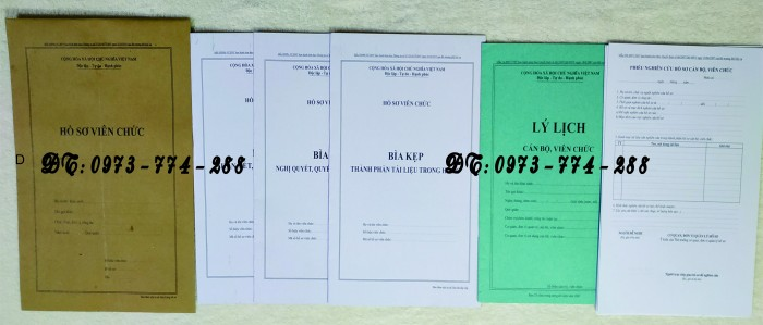 hồ sơ viên chức theo thông tư 07/2019/TT-BNV