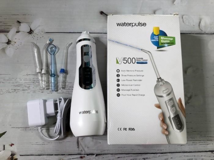 Máy tăm nước Waterpulse V500 giá bao nhiêu Máy tăm nước V500: 950.000đ/máy Shop Dinh Dinh - Máy Làm Đẹp đang bán giá 640.000/máy0