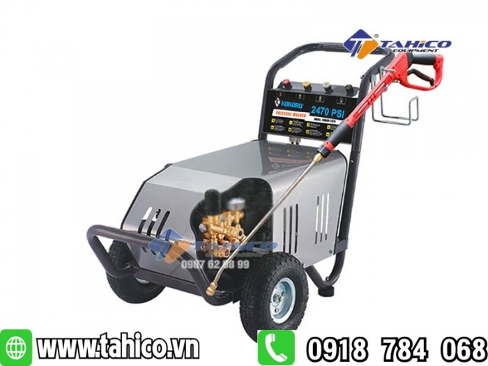 Máy rửa xe cao áp kokoro 18m25-4t4 tahico0