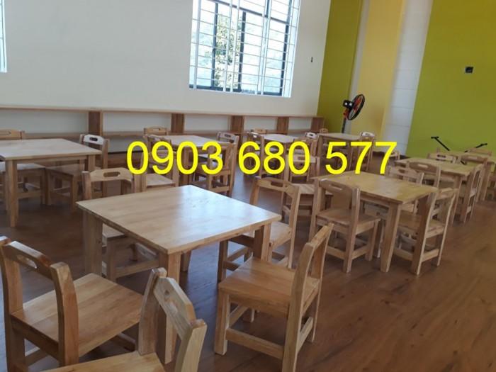 Chuyên sản xuất và cung cấp bàn ghế gỗ mầm non giá cực SỐC12