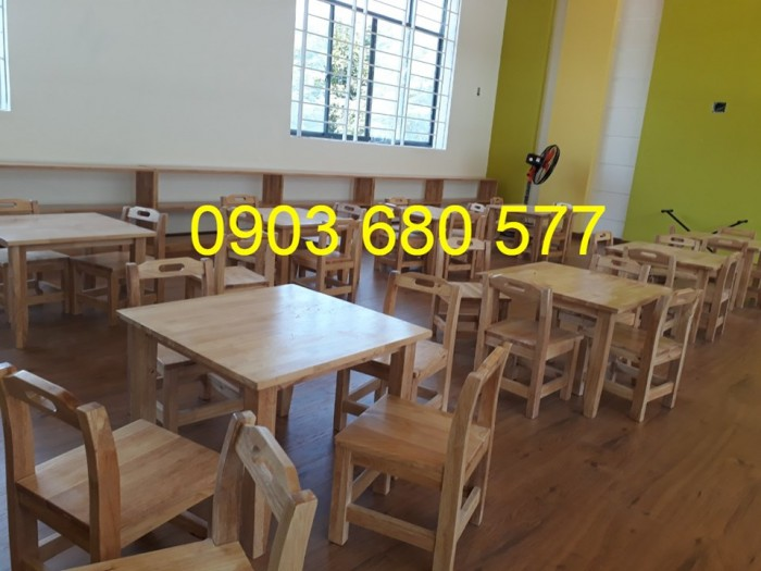 Chuyên sản xuất và cung cấp bàn ghế gỗ mầm non giá cực SỐC16