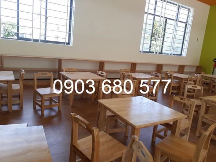Chuyên sản xuất và cung cấp bàn ghế gỗ mầm non giá cực SỐC15