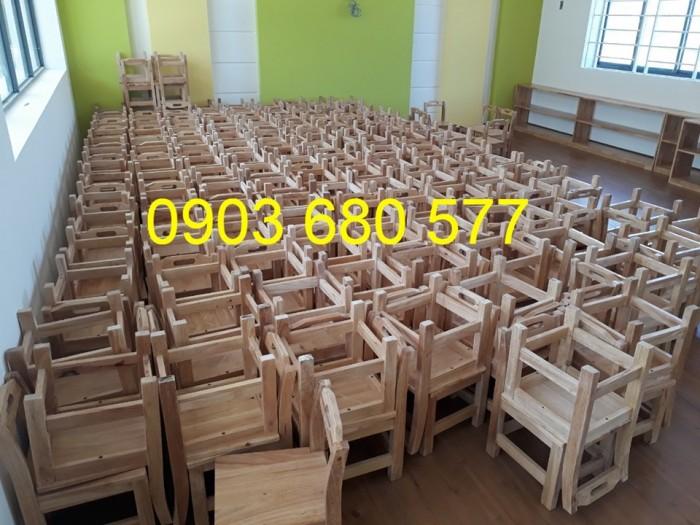 Chuyên sản xuất và cung cấp bàn ghế gỗ mầm non giá cực SỐC10