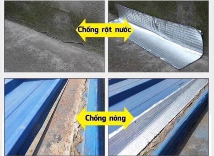 3. Chống thấm nước Với độ dày vững chắc của lớp keo cùng với lớp bạc cách nhiệt bảo vệ bên ngoài, băng keo Bosui có khả năng chống thấm nước hiệu quả. Bạn có thể dùng Băng keo chống thấm Nhật Bản Bosui để - Bịt ống nước bị vỡ (thậm chí là ống dẫn nước nóng) - Vá trần nhà, tường bề tông - Vá các vết nứt, vết rạn ở mọi vật dụng - Vá bể nước inox, bể nước bê tông, ...v 4. Sử dụng trên mọi bề mặt Băng keo chống thấm Nhật Bản Bosui có tính ứng dụng cao được sử dụng rộng rãi tại Nhật Bản và thị trường nước ngoài. Bạn có thể vá mọi bề mặt từ gỗ, kính, nhựa, tôn, sắt, bê tông đến gốm sứ. Vá và bịt kín mọi lỗ thủng và vết nứt!2