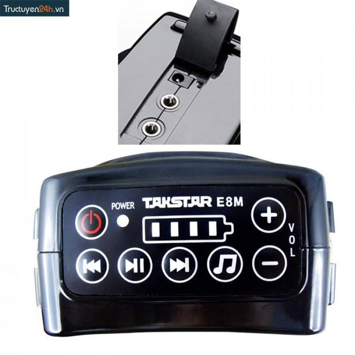 Máy trợ giảng Takstar E8M sử dụng dễ dàng trên các nút trên đầu máy3